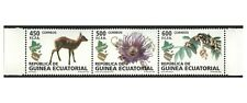 Equatorial Guinea 2008 Flora & Fauna Strip of 3 Stamps Mint Unhinged #6-24