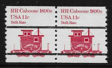 US Scott #1905a, Pair 1984 Caboose 11c FVF MNH