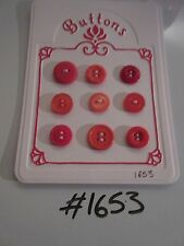 #1653 Lot of 9 Red Buttons