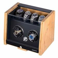 Bamboo Shell for 6 Automatic bamboo Watch Winder Made of Premium Natural
