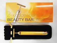 24K GOLDEN PULSE FOR SKIN CARE BEAUTY BAR - MADE IN JAPAN FACE MASSAGER HEALTH