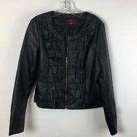Ruby Rose Women's Black Faux Leather Jacket Large