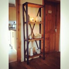 Metal Shelving Unit, Bookcase, Retro, Rustic, Ironwork (Handmade) Vintage