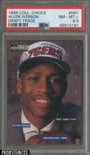 1996-97 UD Collector's Choice Draft Trade Allen Iverson 76ers RC Rookie PSA 8.5