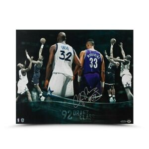"""Alonzo Mourning Signed Autographed 16X20 Photo """"Draft Class"""" Hornets #/33 UDA"""