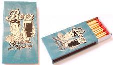 Paquet de 48 allumette sûreté feu long vintage motif aléatoire 11x6x2 cm camping