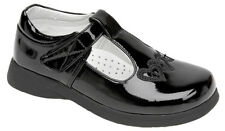 Boulevard Girls T Bar Touch Fastening Shoes Small Kids UK 10 / EU 28 Black Patent PU
