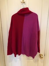 Boohoo Pink & Red Jumper, Oversized, Size S/M - WORN ONCE
