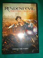 Resident Evil The Final Chapter 2017 Dvd Starring Milla Jovovich