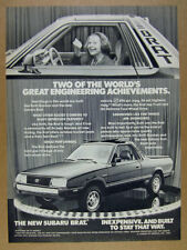 1982 ruth gordon photo Subaru Brat GL vintage print Ad