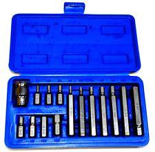 Coffret boîte de 14 embouts vissage 6 pans 4/5/6/7/8/10/12 mm longs et courts
