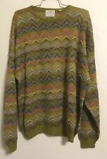 Large Pronto Uomo Firenze Italian Knit Sweater Textured 90's Cosby Style Ugly