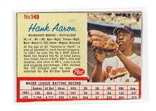 1962 POST HANK AARON CARD #149 NO CREASES GOOD-VG+ (T30)