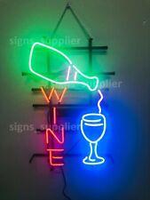 "New Wine Bottle Open Beer Bar Neon Light Sign 24""x20"" Lamp Decor Man Cave"