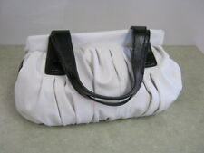 Simply Vera, Vera Wang - Pleated, Satchel Style Purse - White & Black -Excellent