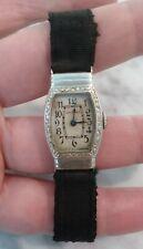 White Gold Ladies Watch Waltham Antique 14K Solid