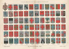 B2531 Italia - Stemmi dei Capoluoghi di Provincia - 1928 Cromolitografia d'epoca