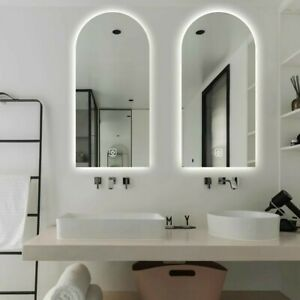 45x90cm LED illuminated, touch button, anti fog mirror.FAST FREE POSTAGE
