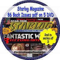 86 PDFs Starlog MAGAZINE FANZINE 5 DVDs -STAR TREK SciFi DVD 2nd in Series of 3