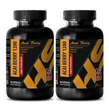Weight loss pills - SUPER ANTIOXIDANT ACAI BERRY 1200 Detox And Cleanse 2 Bot