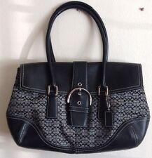 Coach Signature Handbag/Purse Black # K35-6388 Bag Pre-owned