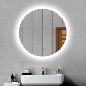 con Interruttore e Tappo xjm Specchio per Il Trucco Illuminato a LED a Parete Specchio da Bagno in Ottone a Doppia facciata da 8 Pollici con ingrandimento Color : Gold, Size : 3X