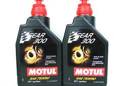 Motul Gear 300 75W90 OLIO PER INGRANAGGI GL4 GL5 Vollsynth CAMBIO 2x 1 LITRO