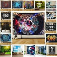 USA Psychedlic Mandala Tapestry Hippie Room Wall Hanging Blanket Art Home Decor