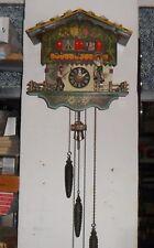 Reloj mecánico musical de Cuco EMIL SCHMECKENBECHER de la Selva Negra