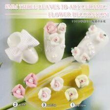Nails Ceramic Flower Shaped For Acrylic Nail Art Decoration Manicure Accessories