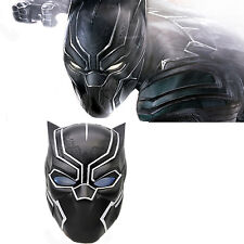2016 Movie Captain Black Panther Mask Glowing Glasse Cosplay Costume Helmet