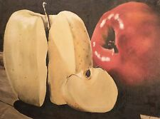 "Stellar Still Life Oil Painting of Red & Yellow Apples, Signed ""Batey"", FINE!"