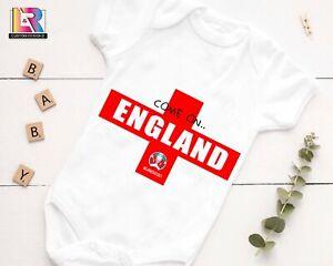 ENGLAND EURO 2020 / PERSONALISED Baby vest. Various sizes.