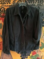 EILEEN FISHER Charcoal Gray Organic Cotton Spandex Jacket Blazer Coat Size L