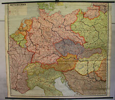 Schulwandkarte muro mapa Map grande-Alemania Deutsches Reich 1937 1939 201 x183