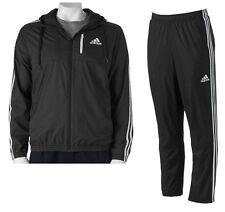 NWT Adidas Mens Big & Tall Woven 3 StripeTrack Suit Pants Jacket BLACK/WHITE 4XL