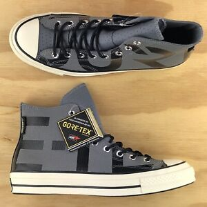 Converse Chuck Taylor 70 Hi Top Leather GoreTex Grey Sneakers Size 163227C Size