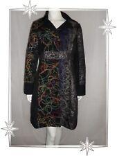 B - Manteau Fantaisie Noir Multicolore Broderie  101 Idées  Taille L