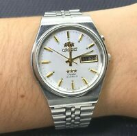 Vintage Watch ORIENT CRYSTAL 3 AAA Automatic 21 jewels White Dial Japan ORIGINAL
