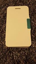 Blanco Gel de cuero con cierre magnético Megantic Estuche Cubierta Petaca Para Apple iPhone 6 6S