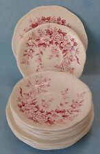 ALFRED MEAKIN China STAFFORDSHIRE Vintage PINK GARDEN BOUNTY Dinnerware SET 50s