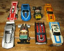 Lot of (8) Vintage TCR & Tyco Slot Cars Bodies & Chassis