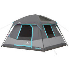 Ozark Trail 6-Person Family Dark Rest Cabin Tent 10' x 9' Outdoor Camping Hiking