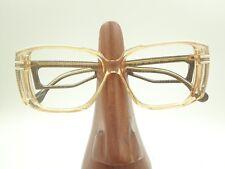 Vintage Robert Claude 2093 MX Oversized Clear Square Sunglasses Frames France
