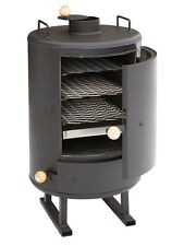 Heavy Duty Smoker TURISMO for Outdoor Use Smoking Oven Steel 78cm high
