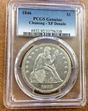 {BJSTAMPS} 1846 Seated Liberty Silver Dollar $1 PCGS Genuine - XF/AU Details