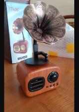 Retro Bluetooth Gramophone Speaker Wireless Loudspeaker Outdoor FM Radio Music