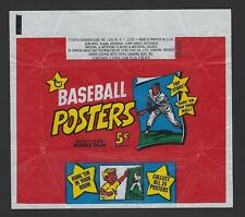 RARE 1968 TOPPS 5 CENTS BASEBALL POSTERS WRAPPER - EXMINT