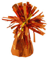 6 Orange Foil Balloon Weights - 85g Table Party Bag Fillers Wedding/Kids