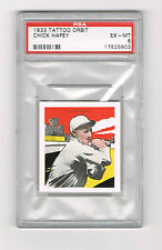 1933 TATTOO ORBIT CHICK HAFEY *PSA 6* *HOF *REDS *2X W.S. CHAMP W STL. CARDINALS